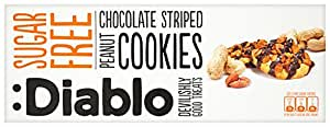 Diablo Sugar Free Peanut and Chocolate Striped Cookies 150 g (Pack of 4)