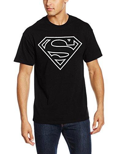 Rockoff Trade Herren T-Shirt Originals Superman Logo Distressed Schwarz