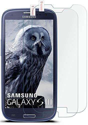 moex 2X 9H Panzerfolie für Samsung Galaxy S3 | Panzerglas Bildschirm Glasfolie [Tempered Glass] Screen Protector Glas Bildschirmschutz-Folie für Samsung Galaxy S3 / S III Neo Schutzfolie