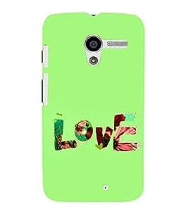FUSON Love Fabric Text 3D Hard Polycarbonate Designer Back Case Cover for Motorola Moto X :: Motorola Moto X (1st Gen) XT1052 XT1058 XT1053 XT1056 XT1060 XT1055