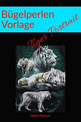 Bügelperlen Vorlage: Tiger Portrait