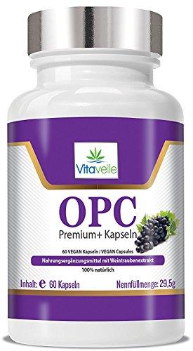 OPC Premium+ VEGANE Kapseln I 350mg Traubenkernextrakt hochdosiert I 2 Monatsvorrat I 250mg reines OPC pro Kapsel I Antioxidantien Made in Germany