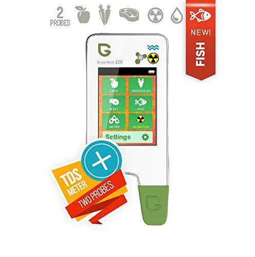 Greentest Eco 5 - Misuratore di radiazioni 6 in 1, a forma di pesce, con contatore TDS