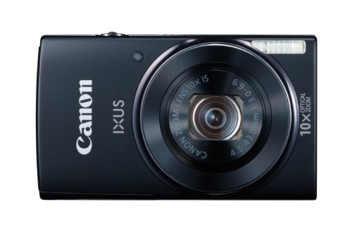Canon IXUS 155 Digitalkamera (20 Megapixel, 10-fach opt. Zoom, 6,8 cm (2,6 Zoll) LCD-Display, HD-Ready) schwarz