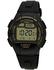 Casio - W-734-9A - Sports - Montre Mixte - Quartz Digital - Cadran LCD - Bracelet Résine Noir