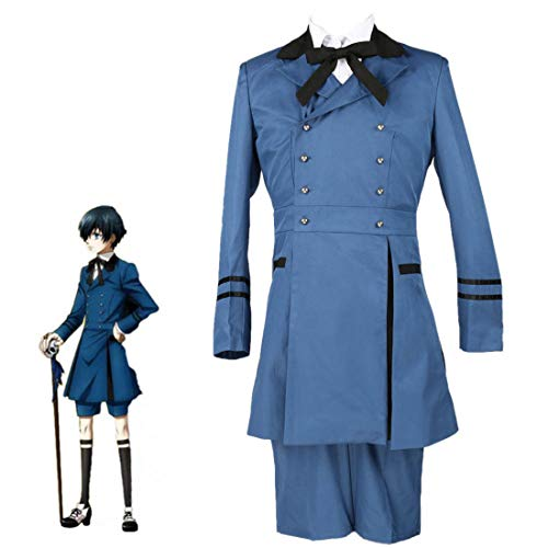 Cosplay Kostüm Kuroshitsuji - Black Butler Kuroshitsuji Ciel Phantomhive Cosplay Kostüm Emboitement Sebasti Black Deacon 2 Xiaer Aristokrat Kostüme 5 Teile/Satz,Female,M
