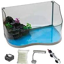 Tartarughiera Tuga completa - Acquario per tartarughe dotato di accessori, disponibile in tre misure (Piccola)