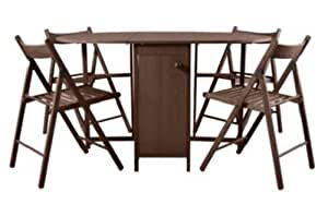 ex argos butterfly oval folding dining table and 4 chairs. Black Bedroom Furniture Sets. Home Design Ideas