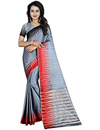 SATYAM WEAVES WOMEN'S ETHNIC WEAR BANARASI PLAIN ART SILK SAREE