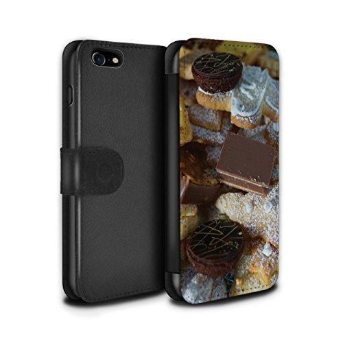 Stuff4 Coque/Etui/Housse Cuir PU Case/Cover pour Apple iPhone 7 / Pack 6pcs Design / Nourriture de Noël Collection Desserts Chocolat
