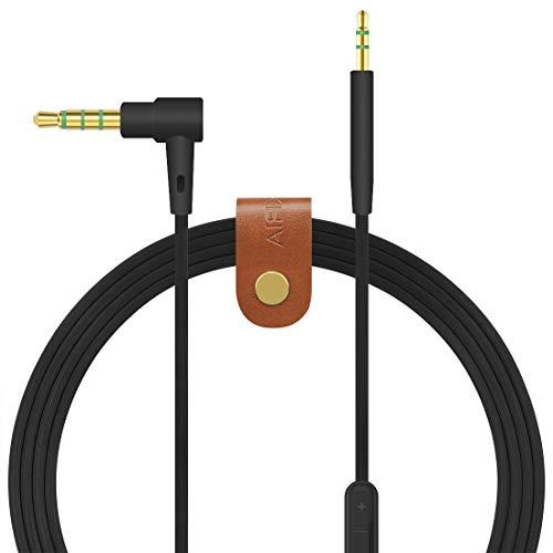 Geekria cavo audio per cuffie BOSE QuietComfort QC35QC25, Soundtrue around-ear II computer cavo/cavo audio con microfono e controllo del volume, funziona con Apple, iOS, Android (nero)