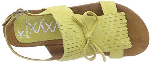 xyxyx - Sandale, Scarpe col tacco con cinturino a T Donna Giallo (Gelb (sun))