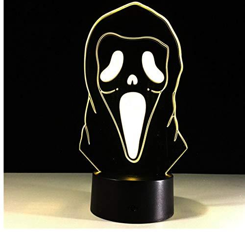 oween Maske 3D Illusion Lampe Bunte Gradienten Atmosphäre Lampe Kinder Schlafzimmer Dekoration Beleuchtung 3D Led Nachtlicht ()