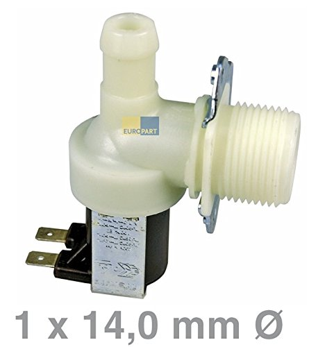 Universal Magnetventil 1-fach 90° 14,0mmØ Waschmaschine Spülmaschine - Geschirrspüler 2 Schritt