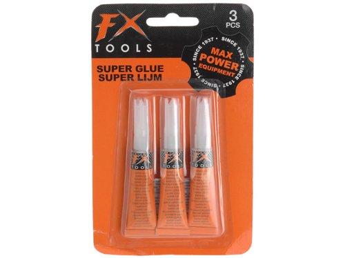 FX Tools Sekundenkleber Superkleber 3 x 3g Tube