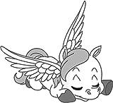 Bambinella® Bügelbild Aufbügler - gedruckte Velour/Flock Applikation zum selbst Aufbügeln - Motiv: Pegasus - Hergestellt in Deutschland