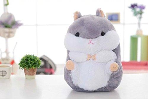 Vercart Kind Kleine Plüschtiere kleiner Junge Mädchen Teenager Bezaubernd Kleine Augen Fett Hamsters Grau 40cm