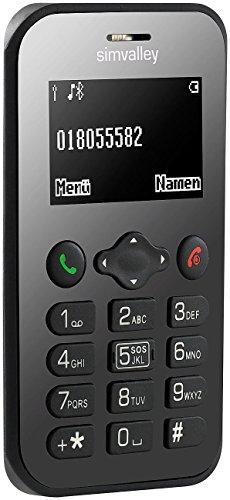 simvalley MOBILE Mini Handy: Scheckkarten-Handy Pico RX-486 mit BT, Garantruf, GPS (Handy Scheckkartenformat)