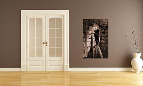 bilderdepot24-self-adhesive-photo-wallpaper-wall-mural-carl-spitzweg-old-masters-der-bucherwurm-sepi