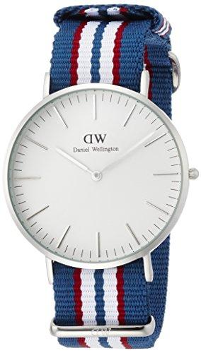 Daniel Wellington 0213DW - Reloj de pulsera para Hombre, blanco / multicolor