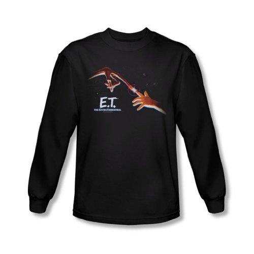 ET - Et - Herren Langarm-Shirt Poster In Black Black