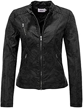 Only Onlsteady Faux Leather Jacket Cc Otw, Chaqueta para Mujer