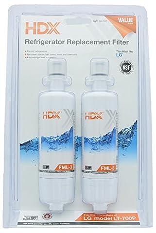 HDX Fml-3filtre à eau de remplacement/purificateur pour LG réfrigérateurs (lot de 2)