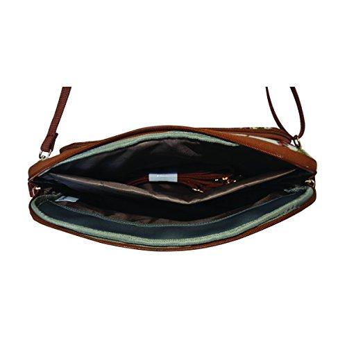 Signare Arazzo caso per Tablet borsa il Tablet caso per lelettronica (Multicolore Triangolo) Papavero