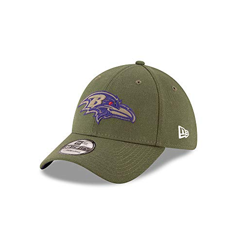 A NEW ERA Era Baltimore Ravens 39thirty Stretch Cap On Field 2018 Salute To Service Green - M - L
