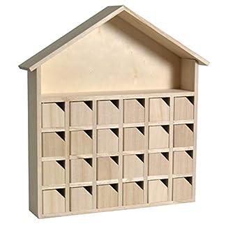 Artemio–Calendario adviento casa, madera, 31,5x 7x 34cm