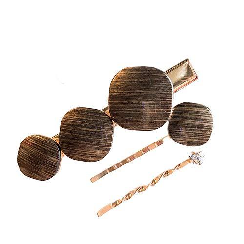 YEBIRAL Damen Haarschmuck Mode Perle Button Barrette Haarnadel Geburtstags Geschenk Party Zubehör 3 Stücke Perlen Haarspangen für Frauen Mädchen (Perlen-snap Button Armbänder)