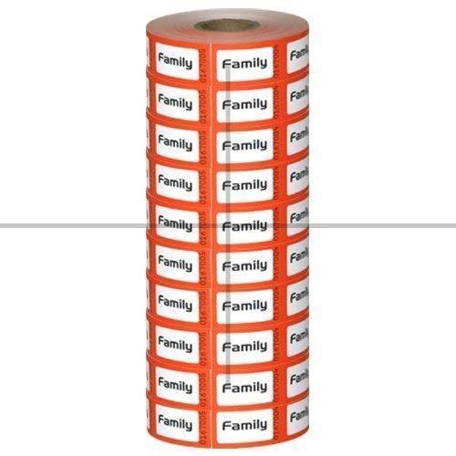 Preisvergleich Produktbild Rolle Tickets,  Familie (10Pack)