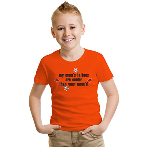 Kinder T-Shirt My moms tattoos... Orange