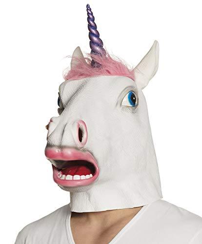 Boland máscara de Unicornio de látex con pelo