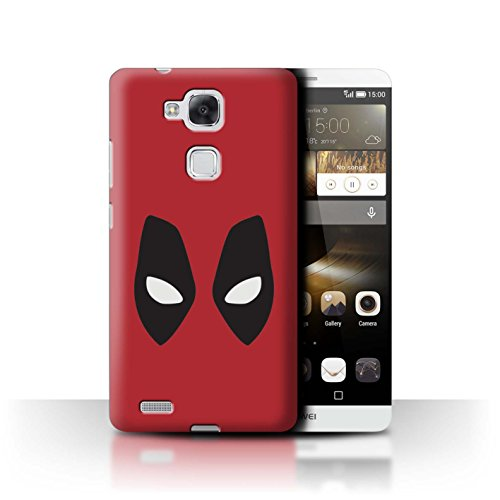 Stuff4® Hülle/Case für Huawei Ascend Mate7 / Deadpool Maske Inspiriert Muster/Superheld Comic-Kunst Kollektion