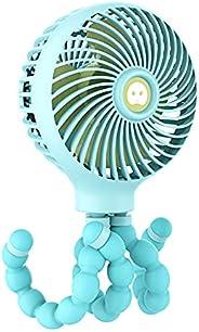 CHOSMO Baby Stroller Fan USB Mini Fan Tabletop Handheld Fan 3 Speeds Rechargeable Battery Operated with Flexib