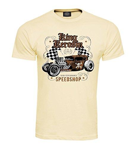 King Kerosin T-Shirt Speedshop Creme