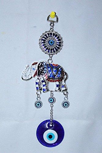 Odishabazaar elefante pequeño de metal ojo pared y coche para colgar