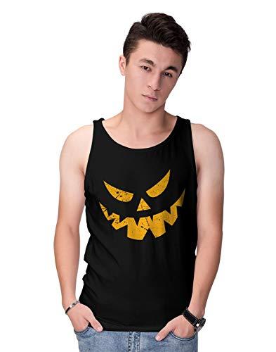 tressed Grunge Scary Halloween Pumpkin Face Herren Tank Top L ()