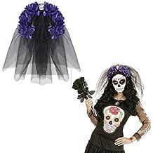 c8fdefcf0be6e5 NET TOYS Tag der Toten Haarreif La Catrina Haarschmuck Dia de los Muertos  Schleier Totenkopf Halloween
