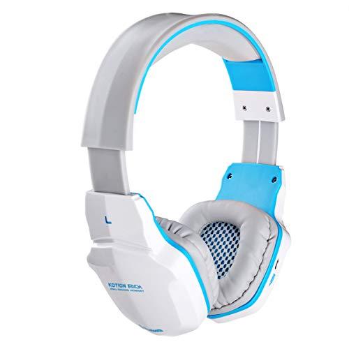 Exing Gaming-Headset, Gaming-Kopfhörer Für PS 4 Nintendo 3Ds X-Box One PC Laptop Mac Tablet Surround-Over-Ohr-Ohrstöpsel Musik und Spiel Headset Wired (Stereo Mit Mic),White