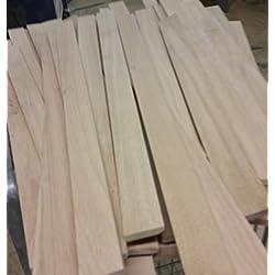 Listones de madera de roble, 10 unidades, 500 x 44 x 8 mm