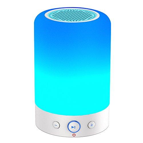 CKY Altavoz Bluetooth Lámpara Portátil LED Inalámbrico Radio Altavoz con Subwoofer Lámpara de Interior para Dormitorio