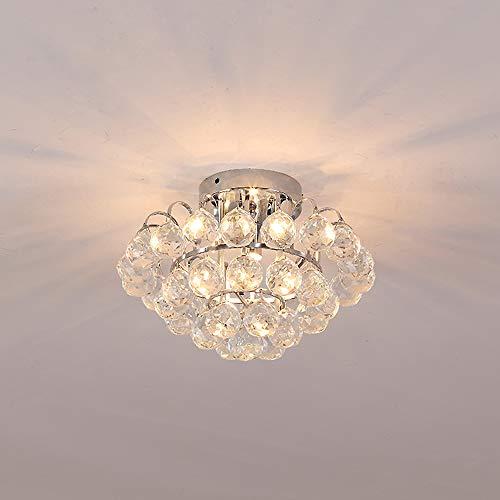 Etelux Lámpara Colgante LED de Cristal Araña Moderna Lámpara Colgan