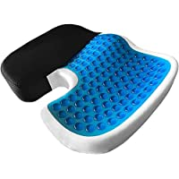 Car Gel Enhanced seat Cushion, Non-Slip Orthopedic Gel & Memory Foam Coccyx Cushion for Tailbone Pain, Office Chair Car seat Cushion
