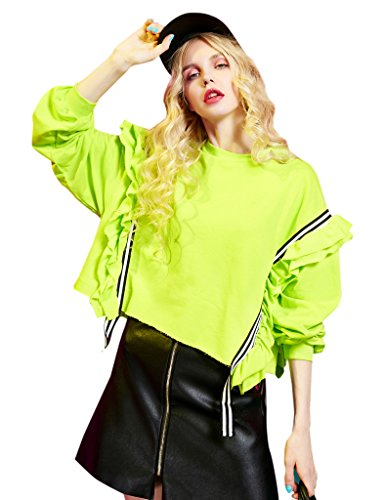 elf-sack-ladies-winter-solid-oversized-sweatshirt-fluorescent-x-large