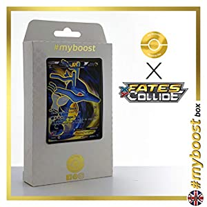 KINGDRA EX 122/124 Full Art - #myboost X Fates Collide XY 10 - Caja de 10 Cartas Pokémon inglesas