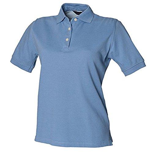 Henbury Damen Modern Poloshirt Kornblume (Blau)