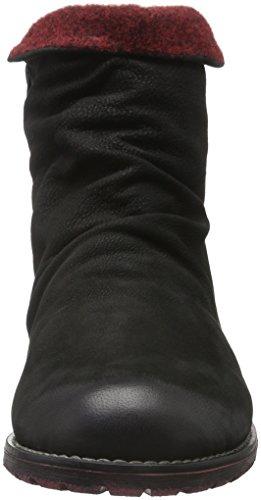 Remonte Damen R3341 Chelsea Boots Schwarz (Schwarz/Bordeaux / 02)