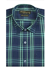 ACCOX Half Sleeve Multicolour Regular Fit Check Formal Shirt for Man,Formal Shirts,100% Cotton Shirts,Check Shirts Cotton,Formal Shirts for Men Office wear Or Daily wear.Cotton Formal Shirt